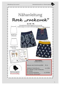 """Midiröcke - ebook und Nähanleitung Rock """"ruckzuck"""" - ein Designerstück von kleinerspatz bei DaWanda"""
