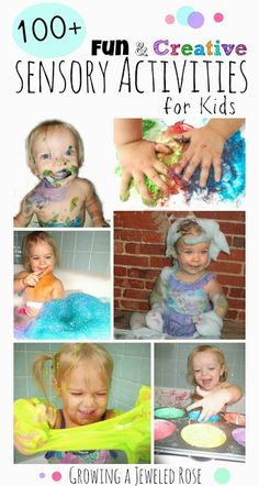 An amazing collection of sensory activities for Kids.  So many FUN ideas!