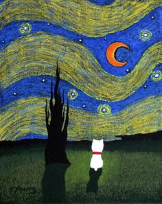 """""""WESTIE Dog - Outsider Folk #art Painting by Todd Young"""""""