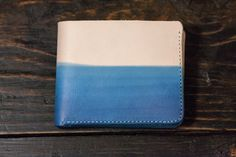 Natural Leather Wallet Leather Bifold Mens by PigeonTreeCrafting