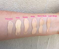 Too Faced Born This Way Foundation Swatches and Review