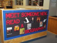 Meet Someone New Read A Biography Library Decoration Idea - MyClassroomIdeas.com