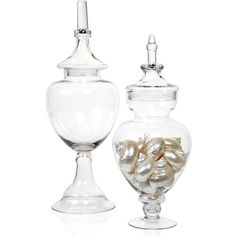 Montebello Jars (160 BRL) found on Polyvore featuring home, home decor, glass jars and glass home decor