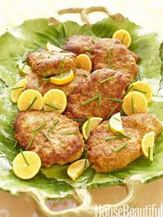 parmesan crusted chicken with lemon butter