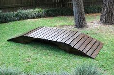 Footbridge | Do It Yourself Home Projects from Ana White  Foot bridge for our pond ravine running into the pond