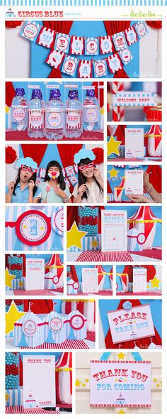 Circus Baby Shower Photo Booth & Bonus Party Signs by LeeLaaLoo