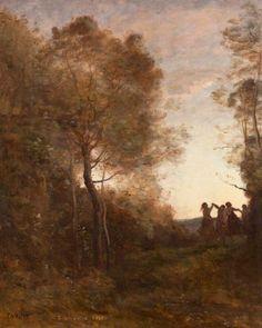 Jean-Baptiste-Camille Corot (1796–1875), Le Soir (La Danse des Nymphes) - 1850/61
