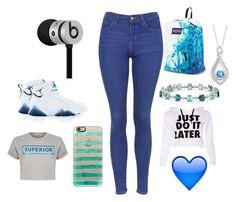 """blue blue and more blue"" by tropicial-yanna ❤ liked on Polyvore featuring moda, Retrò, JanSport, Topshop, Blue Nile, Beats by Dr. Dre, Casetify e Être Cécile"
