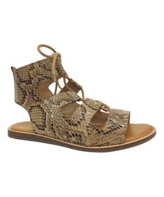 Another great find on #zulily! Natural Snake Stardust Sandal #zulilyfinds
