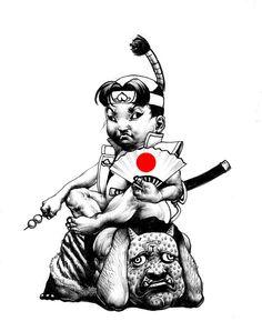 A fine work 'THE PEACH BOY' from Japan illustrator, SHOHEI.