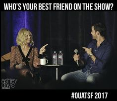 """Who's your best friend on the show?""#OUATSF #CaptainSwan ❤️"
