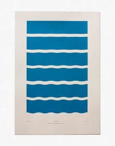 Waves Limited Edition Screenprint / Julia Kostreva in Invitation Geometric Graphic, Art Prints For Sale, Surf Art, Graphic Design Illustration, Graphic Design Inspiration, Layout Design, Screen Printing, Typography, Poster Prints