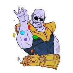 Thanos is a fictional character playing the lead negative role in the movie series of avengers. He become trending and viral right after the movie of Avengers:Infinity war. Marvel Dc Comics, Ms Marvel, Heros Comics, Marvel Funny, Marvel Art, Marvel Memes, Marvel Cartoons, The Avengers, Thanos Avengers