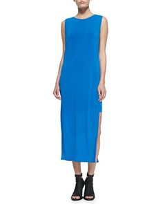Faint Jersey Side-Slit Dress by Helmut Lang at Neiman Marcus.