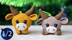 Amigurumi Fox, Amigurumi Patterns, Crochet Patterns, Crochet Animals, Crochet Toys, Bull Symbol, Cow Toys, Wool Embroidery, Crochet Basics