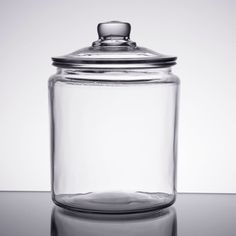 Anchor Hocking Gallon Glass Jar with Lid Glass Sweet Jars, Large Glass Jars, Glass Jars With Lids, Jar Lids, Clear Glass, Glass Water Bottle, Glass Bottles, Gallon Glass Jars, Vintage Wedding Favors