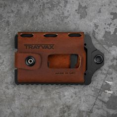 Tactical wallet made in the USA - Trayvax Element - Canyon Red (Black Edition)