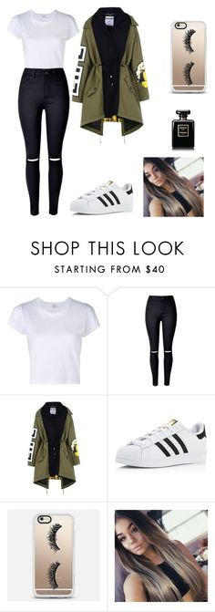"""""""Untitled #244"""" by timcaaa on Polyvore featuring RE/DONE, Moschino, adidas and Casetify"""