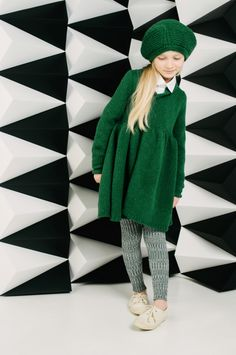 Paade Mode with a gorgeous emerald green knitted outfit for girls wear fall / winter 2013