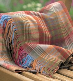 Mulberry Ancient Tartan Lambswool Throw by Mulberry Home. Tartan Throws, Gp&j Baker, Mulberry Home, Home Board, Textiles, Home Comforts, How To Get Warm, Cozy Blankets, Autumn Home