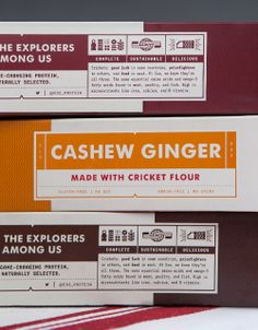 Exo - A New Protein Bar Made from Cricket Flour via @The Dieline