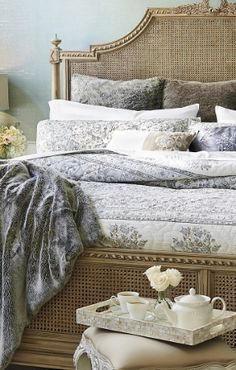 Handmade by expert needleworkers, our luxuriously soft Savoy Bedding gains further artistry with hand block printing using eco-friendly dyes.