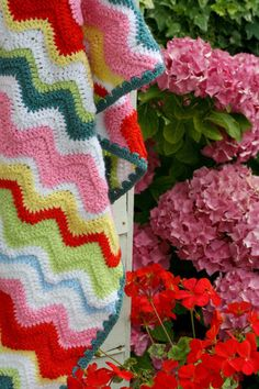Coco Rose Diaries ripple blanket inspiration.