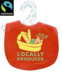 "Fair Trade & Organic Cotton baby ""Locally Produced"" Bib - Little Green Radicals"
