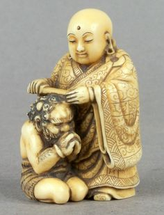 Object of the Day - Netsuke: #Netsuke depicting the #Bodhisattva #Jizō Blessing…