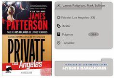 Livros e marcadores2: Private: Los Angeles N.º 3 de James Patterson, Mar...