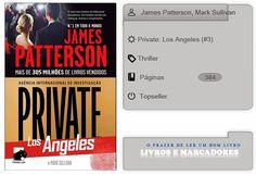 Livros e marcadores2: Private: Los Angeles N.º 3 de James Patterson, Mar...