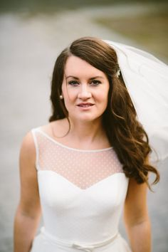 Polka dot wedding dress // Irish bride // Epic Love Photography
