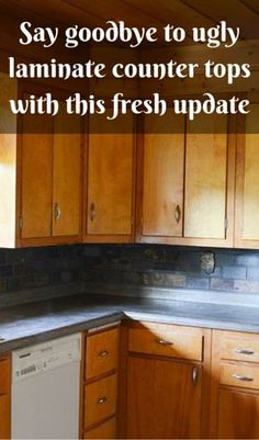 Say Goodbye To Ugly Laminate Counter Tops With This Fresh Update