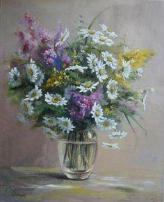Blumen VaseBlumenstrauß Bouquet Ölgemälde auf von LidiaPaintingArt