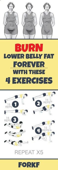 Burn Lower Belly Fat Forever With These 4 Exercises