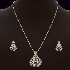 Diamond Changeable Pendant Set (137A11683-139A20586) | Vummidi Bangaru Jewellers