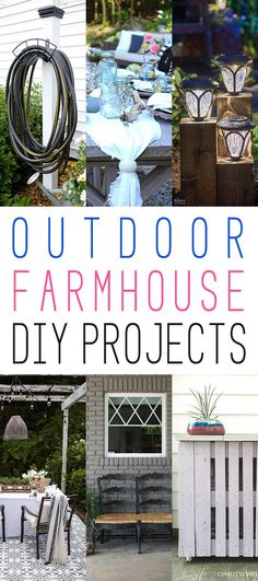 Outdoor Farmhouse DIY Projects - The Cottage Market  Micoley's picks for #DIYoutdoorprojects www.Micoley.com