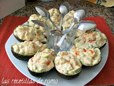 These sailor avocados are an ideal starter for com … – Dinner Recipes Appetizer Recipes, Dinner Recipes, Appetizers Table, Good Food, Yummy Food, Cooking Recipes, Healthy Recipes, Food Dishes, Finger Foods