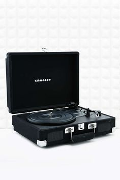 Crosley Cruiser Record Player UK Plug in Black Suede - Urban Outfitters