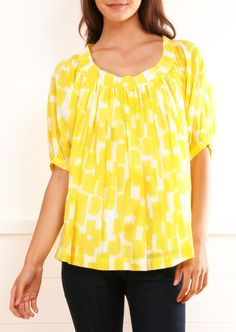 Yellow Babydoll Blouse