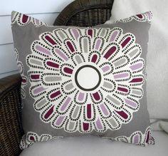 Designer Decorative Pillow Cover - Thomas Paul Bloom - Plum