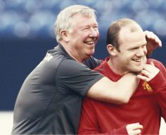 Sir Alex Ferguson and Rooney Sir Alex Ferguson, American Football, Manchester United, All About Time, Soccer, The Unit, Play, Game, Couple Photos