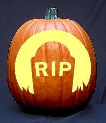 Graveyard pumpkin carving pattern free halloween stencils