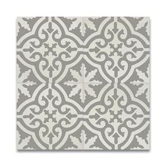 Handmade Argana Grey/ White Cement and Granite Moroccan Tile, 8-inch x 8 -inch (Morocco)