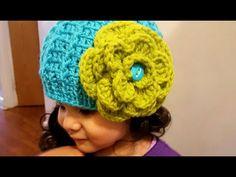 Como tejer gorro en crochet(ganchillo)para niñas - YouTube