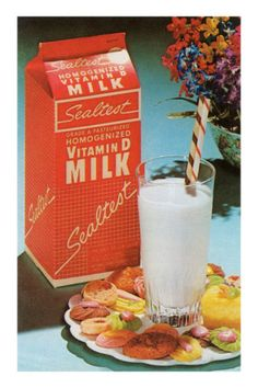 Sealtest Milk was the major brand growing up in Rochester back in the thru. Vintage Advertisements, Vintage Ads, Vintage Food, Retro Food, Milk Ice Cream, Rochester New York, Glass Milk Bottles, Vitamin D, Vintage Recipes