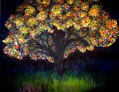 Gumball tree 0001 Painting  - Gumball tree 0001 Fine Art Print