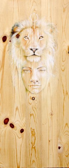 Artwork by Caitlin Buck Acrylic painting on wood