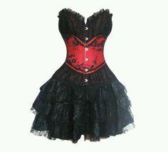Red & black scene/emo dress. <3