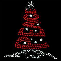 Hot Fix Motif Christmas tree Peace
